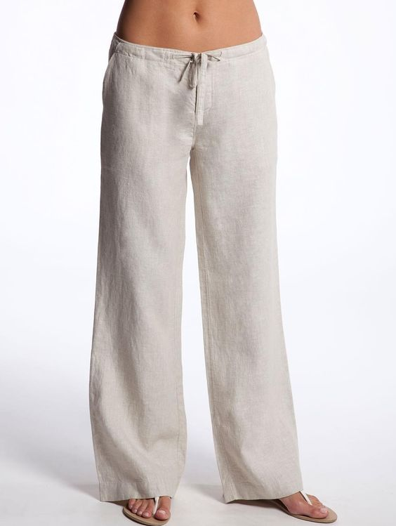 Womens White Linen Beach Shirt