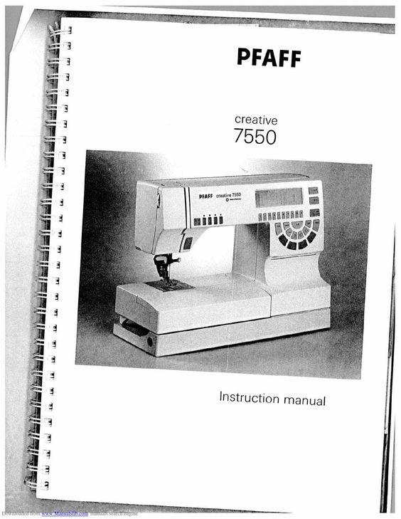 7550 pfaff sewing machine