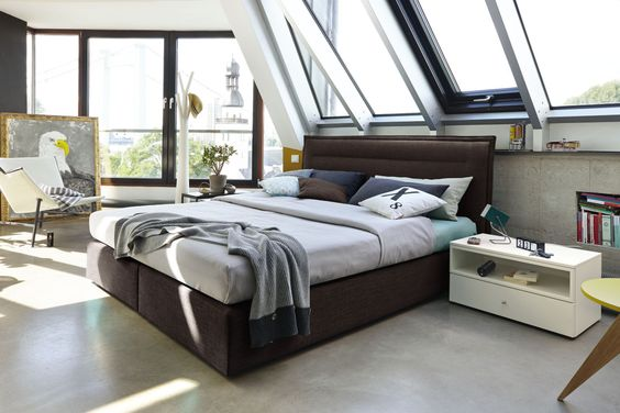 #brown #boxspring #bed #bedroom #now!byhuelsta #hulsta #now!boxspring