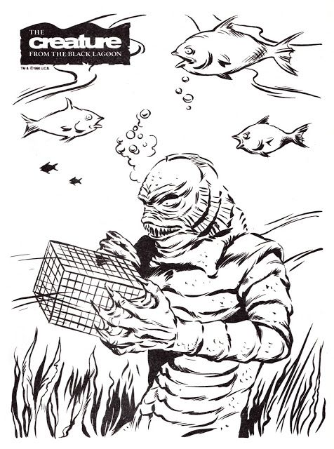 Universal Studios Monsters Big Coloring Book Creature From The Black Lagoon Universal Monsters Monster Coloring Pages Coloring Books