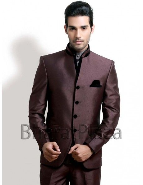 Buy Chocolate Brown Jodhpuri Suit online. http://www.bharatplaza