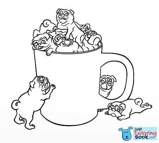 Pug Coloring Pages Coloring Puppy Coloring Pages Coloring Pages In Funny Pug In Dragon Costume Coloring Pages Anak