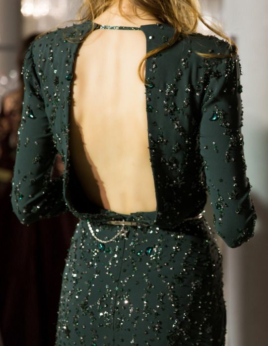 Green, sparkly, backless dress  | colors | green
