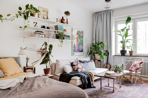 A cozy and charming Scandinavian studio apartment - Daily Dream Decor