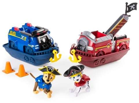 Paw Patrol Pirate Pups Pirate Vehicles With Chase And Marshall Figures 2pk Figures Pirate Sail Paw Patrol Toys Paw Patrol Toy Cars For Kids