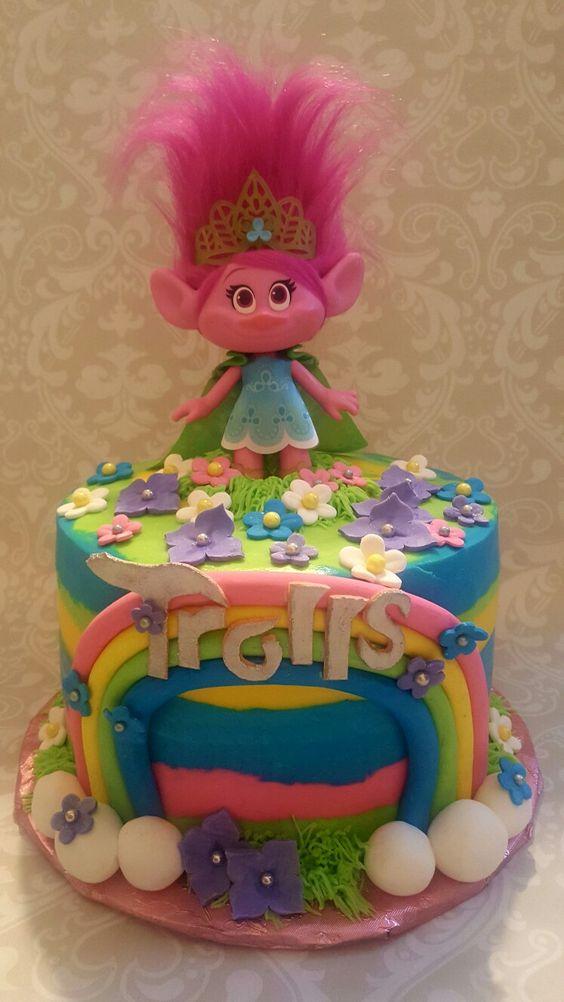 Dreamworks Troll cake: