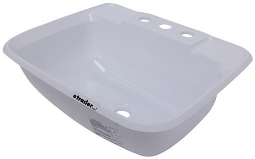 Lasalle Bristol Single Bowl Rv Bathroom Sink 14 3 4 Long X 12 1 4 Wide White Lasalle Bristol R Bathroom Sink Sink Lavatory Sink