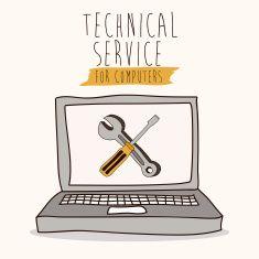 Technical Service vector art illustration