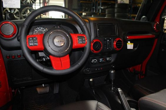 2014 RED JEEP WRANGLER UNLIMITED SPORT WITH 5.75″ LIFT AND 38″ TIRES – $79,995   American Wheel and Tire