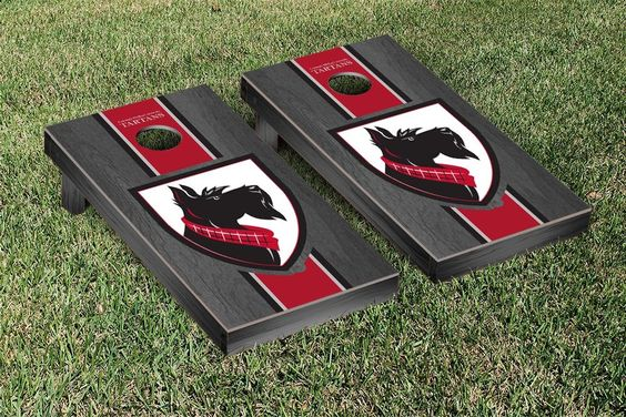 Gray Onyx Carnegie Mellon University Tartans Varsity Stripe Cornhole Game