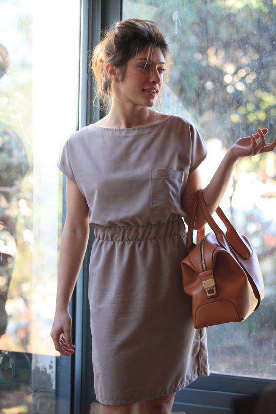 Sale Women casual midi dress Classic short sleeves dress Elegant ...