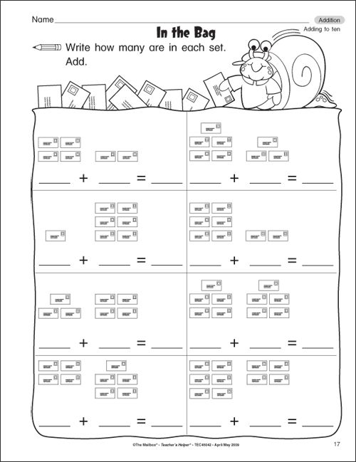 Kindergarten Math Addition Worksheets – Kindergarten Adding Worksheets