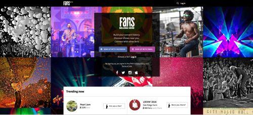 """""""Fans"""" una nueva red social para los locos por la música   Loco por una banda pero demasiado tímido para compartirlo en Facebook? """"Fans"""" un nuevo sitio en internet espera hacerse su lugar en el mundo de las redes sociales apuntando a los seguidores desenfrenados de artistas o grupos.  La plataforma accesible en la dirección fans.com permite a los amantes de la música compartir datos sobre conciertos historias testimonios y navegar por una base de datos que cuenta con cinco millones de…"""