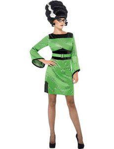 Ladies Frankies Girl Fancy Dress Costume Halloween Multi Size Frankenstein Bride   eBay