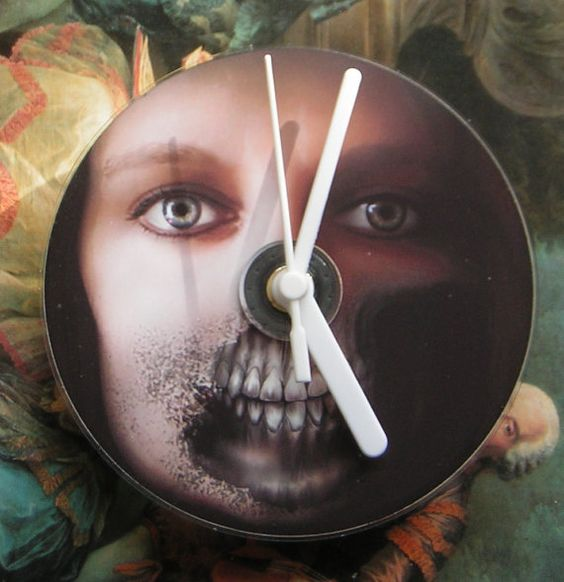 Zombie CD Desk or Wall Clock by Klicknc on Etsy