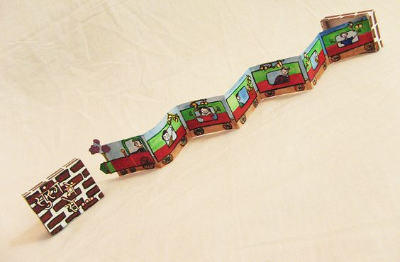 Train in a Matchbox. Matchbox book.