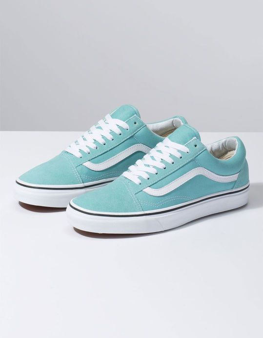 VANS Old Skool Aqua Haze & True White Shoes | Vans old skool