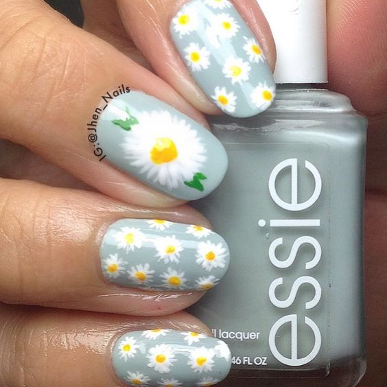"Just Some Things I Like ? JHEN_NAILS on Instagram: ""Marguerite Daisy ??"":"