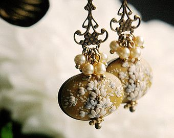 Canary. Gorgeous handmade polymer clay earrings. Made to order
