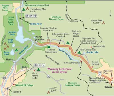 Moran Wyoming Map Moran Wyoming Map | autobedrijfmaatje