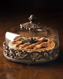 Accentuate your pumpkin pie with our high quality GG Collection Versailles pie plate with dome. Now at $250