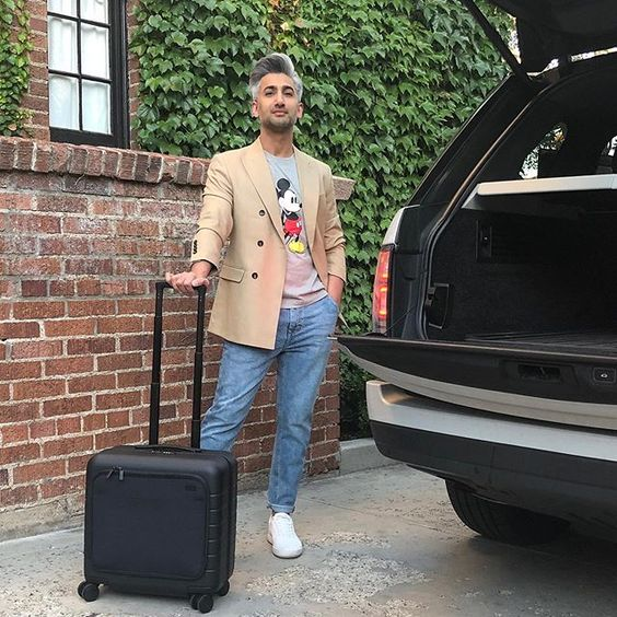 "T A N . F R A N C E no Instagram: ""Here we go again. Just an overnight trip, so I'm traveling light with my #gifted @away Daily Carry On. This is all I take on my weekend…"""