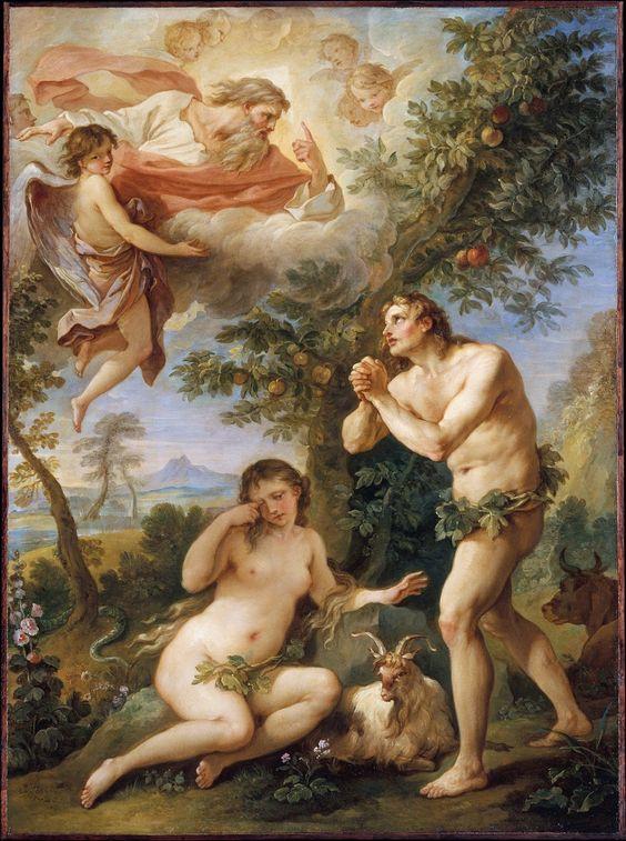 Adam and Eve rebuked by God. Charles-Joseph Natoire (1700-1777)