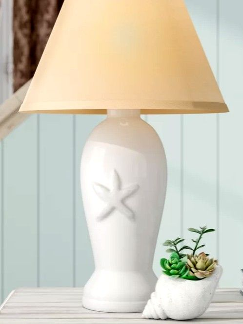 White Coastal Theme Table Lamps Lamp Table Lamp Beach House Decor Diy