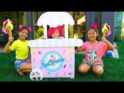 Oyku And Masal Pretend Play Ice Cream Shop Youtube Play Ice Cream Ice Cream Shop Ice Cream