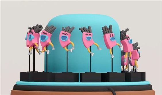 Colorful 3D printed zoetrope becomes real life award at Amsterdam's KLIK Film Festival
