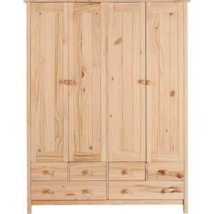 199.99 Buy Scandinavia 4 Door 6 Drawer Wardrobe - Pine at Argos.co ...