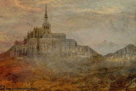 'Mont Saint Michel' von Marie Luise Strohmenger bei artflakes.com als Poster oder Kunstdruck $20.79