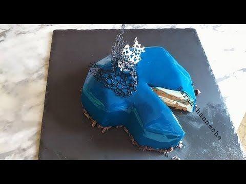 Entremet Cristal Glacage Miroir تورتة على شكل قلب مع طريقة تحضير ليتول Les Tuiles Youtube In 2021 Birthday Candles Candles Birthday