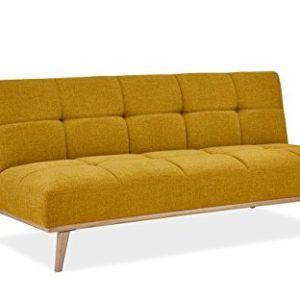 Mobilier Deco Banquette Clic Clac Scandinave Convertible Tissu Jaune Mobilier De Salon Canape Angle Tissu Jaune