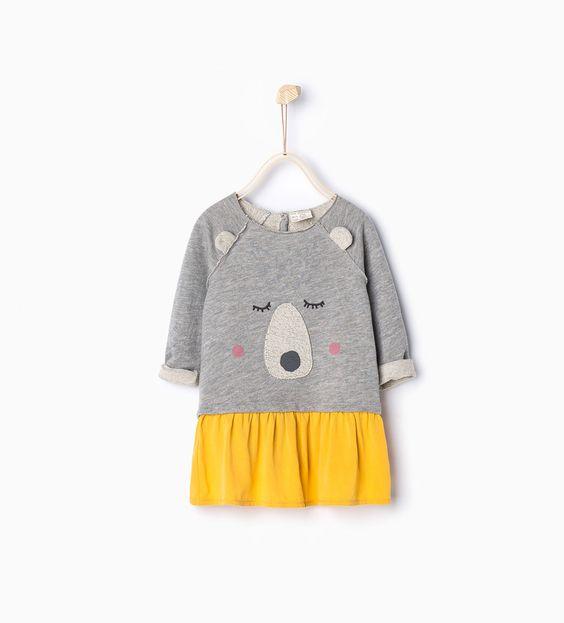 Robe assortie-Robes et combinaisons-Bébé fillette-Bébé | 3mois-3ans-ENFANTS | ZARA France