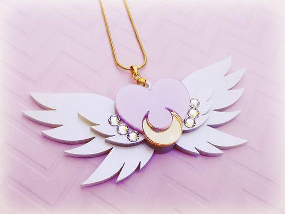 SAILOR MOON Eternal Sailor Moon Brooch Necklace by ShoujoShop