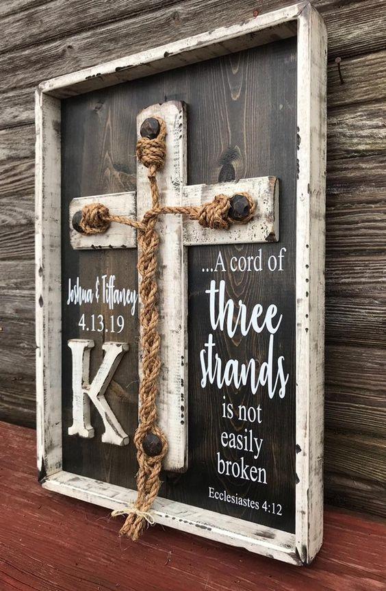 Wedding Braid Cross a cord of three strands wedding | Etsy