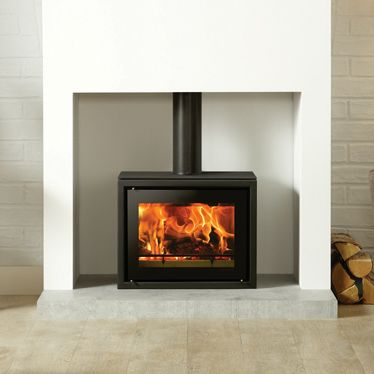 Modern stoves stove and freestanding fireplace on pinterest for Contemporary wood fireplace