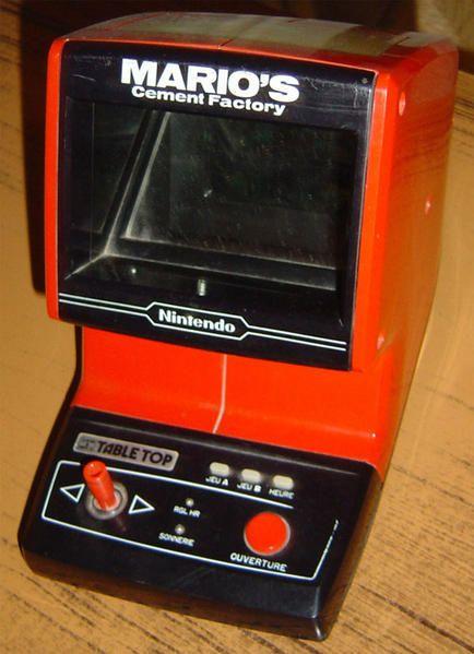 Coleco Mario S Cement Factory Table Top Arcade Games