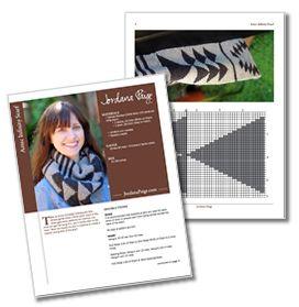Free Knitting Pattern: Aztec Infinity Scarf