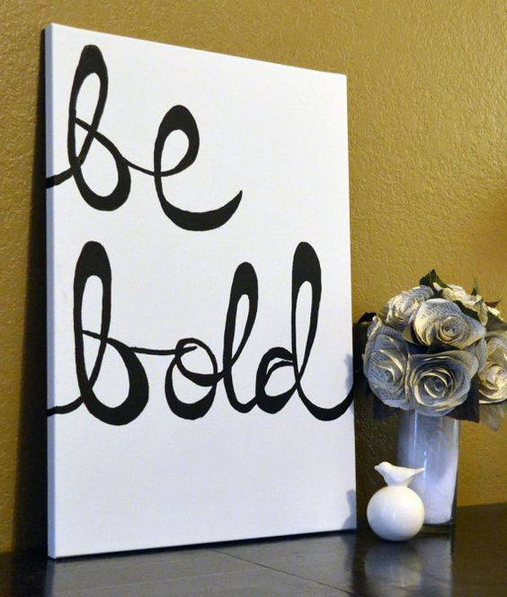 Ready to ship hand painted large canvas wall art black for Diy canvas art black and white
