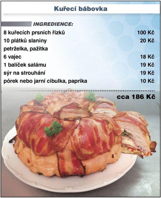 Levně a chutně - recept na kuřecí bábovku