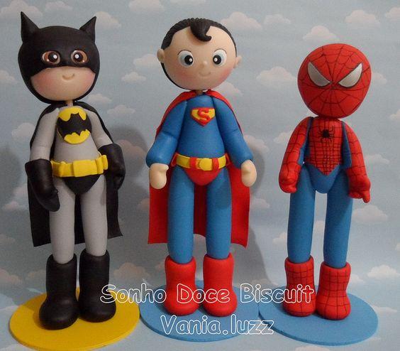 Batman, Superman y Hombre araña.