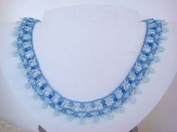 http://store.sandradhalpenny.com/blue-jean-lace-necklace-pattern-p204.php made by Nola Dorren-Rideout