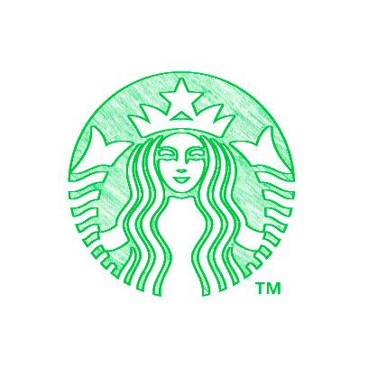 how to draw the starbucks coffee logo step by step