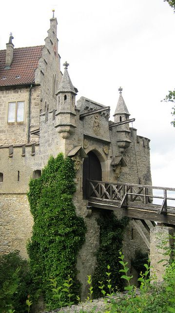 Lichtenstein Castle drawbridge Baden Württemberg, Germany ...