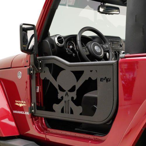 07 18 Jeep Wrangler Jk 2 Door Skull Tubular Doors Black With Side View Mirrors Jeep Wrangler Accessories Jeep Wrangler Jeep Doors