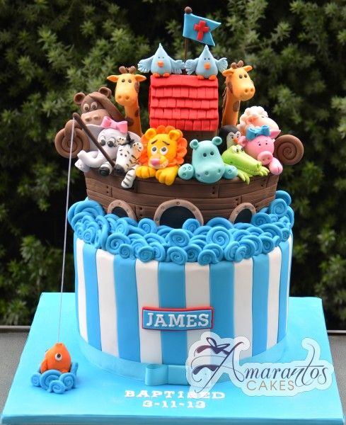 Southern Blue Celebrations: NOAH'S ARK CAKE IDEAS & INSPIRATIONS: