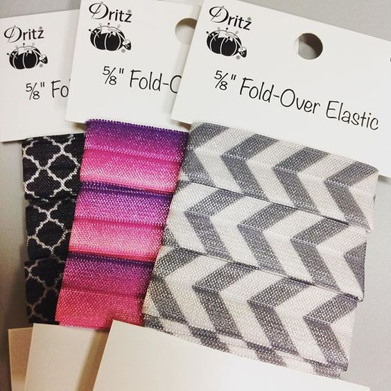 Dritz foldover elastic is great for hairties, headbands, bracelets and more! Quick and easy fun!