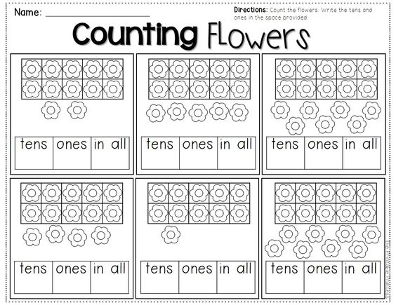 Number Names Worksheets number practice for kindergarten : Teen numbers, Place values and Kindergarten on Pinterest